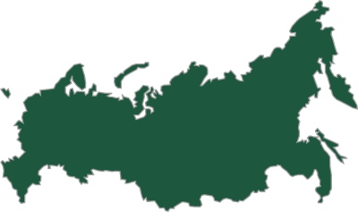 Russia outline grafx green fill